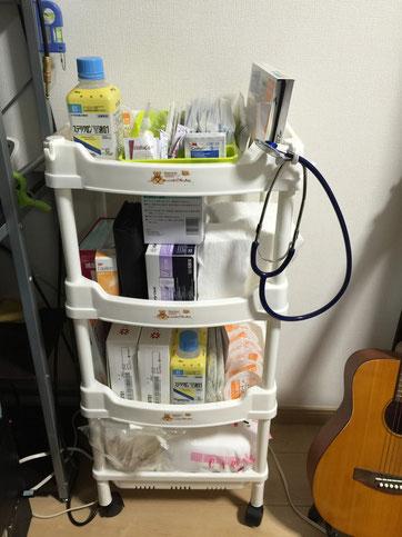 ニトリで自宅療養を支える椅子とカートを購入してきました