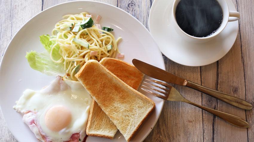パン派の朝食