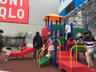 新宿小田急屋上にある遊具